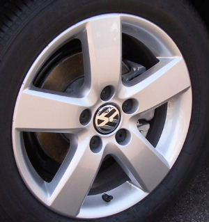 08-10 VOLKSWAGEN JETTA 2.5 SE/SEL/TDI/LIMITED 16x6.5 Flat 5 Spoke, Tapered Edges SILVER MUGELLO