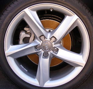 10-15 AUDI A7 19x7.5 Thin Twisted Carved 5 Spoke SILVER