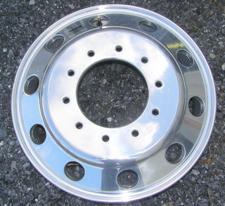 07-13 CHEVROLET TRUCK 19.5x6 10 Lug Accuride Duallie 10 Hole POLISHED - FRONT