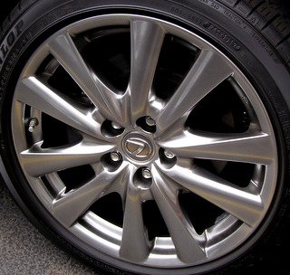 12-15 LEXUS GS350/GS450H 18x8 Soft Contoured 5 V-Spoke SMOKE BRILLIANT US