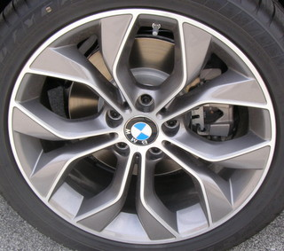 15-17 BMW X3 XDRIVE28D/28I/35I 19x8.5 Bowed 5 V-Spoke, Flared Ledge MC/ARGENT FRONT ST 608