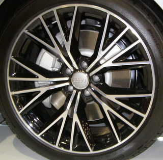 15-18 AUDI A7 S-LINE PRESTIGE 20x9 Flared Double 5 Y-Spoke MACHINE/BLACK, OPT CQ2