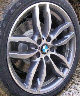 15-17 BMW X3 XDRIVE28D/28I/35I 19x8.5 Bowed Notched 5 V-Spoke MACHINE/GREY ST 622