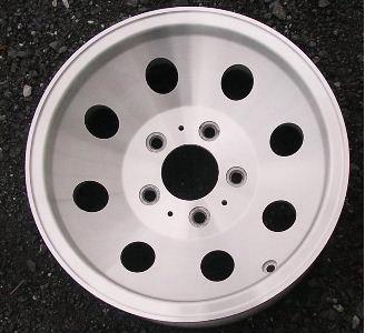 85-93 GMC VAN 1500 15x6.5 Dished 8 Hole, 5x5 Bolt Ptrn MACHINE/NATURAL