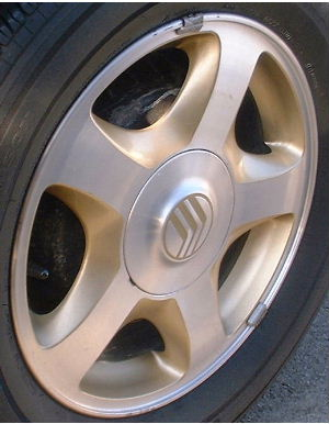 99-00 MERCURY VILLAGER 16x6 5 Spoke with Covered Lugs B MACHINE/GOLD