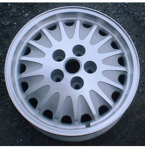 91-97 BUICK REGAL GS GRAN SPORT 16x6.5 17 Spoke with Exposed Lugs MACHINE/SILVER