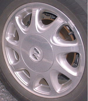 97-04 BUICK REGAL GS/LS 16x6.5 Slanted Flat 9 Slot CHROME, OPT PY0