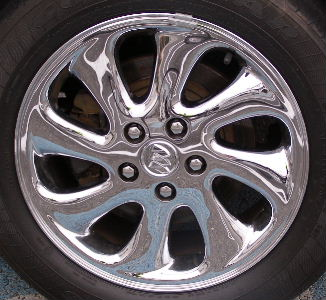 03-05 BUICK PARK AVENUE ULTRA 17x7.5 Soft Swept 8 Spoke, Optn N94 CHROME OPT N94 ULTRA