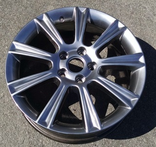 08-09 BUICK ALLURE 18x7 Thin Flared Grooved 9 Spoke HYPERBLACK OPTN NW5