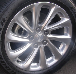 14-17 BUICK LACROSSE TOURING/LEATHER 1SB/1SL 18x8 Soft Contoured Swept 10 Spoke BRILLIANT, OPT REP