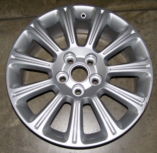 13 BUICK LACROSSE LEATHER 18x8 Angular Grooved 11 Spoke SILVER, OPTION RT4