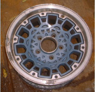 93 GMC S15 4X2/SONOMA 15x7 Dished 10 Hole Mesh w Rivets BLUE