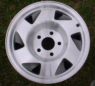 95-97 GMC S15 4X2/SONOMA SLS 15x7 Slanted 6 Spk, Recessed Center MACHINE/GREY