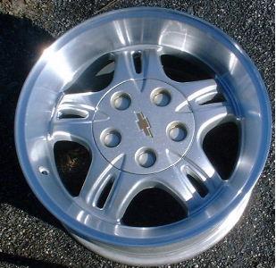 99-03 GMC S15 4X2/SONOMA 16x8 EXTREME Deep Split 5 Spoke SILVER, MACH'D LIP