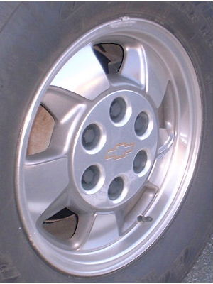00 CHEVROLET TRUCK 4X4 16x7 Slanted Expanding 5 Spoke B POLISH/GREY OPT PF9