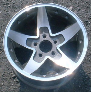 01-04 GMC S15 4X2/SONOMA SLS 16x8 Concave Thin 5 Spoke MC/GREY, OPTN N96