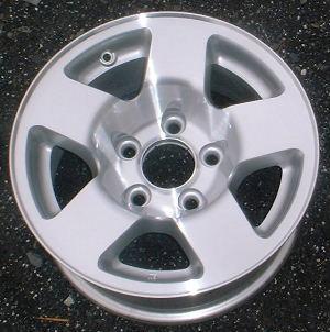 01-02 GMC VAN 1500 15x7 Dished Flat 5 Spoke Opt'n Y91 MC/SILVER, OPTN N93