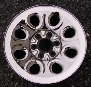 09 GMC VAN 1500 - 6 LUG 17x7.5 Dished 8 Hole STEEL, CHROME CLAD