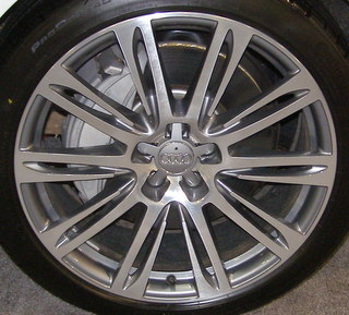 11-15 AUDI A7 3.0 TFSI QUATTRO PREMIUM PLUS 20x9 Angular Slotted 10 Spoke MACH/GREY OPT F27