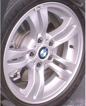 04-10 BMW X3 17x8 Split Convex 5 Spoke 3401200 SILVER - STYLE 112