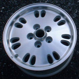 94-95 JAGUAR XJ6 16x7 14 Paired Oval Holes with Open Lugs KIWI - MACHINED
