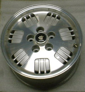94-95 JAGUAR XJ6 16x7 7 Triple Holes with Open Lugs MACHINE/SILVER