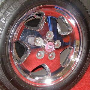 95 JAGUAR XJS 16x7 Flat 5 Spoke with Exposed Lugs CHROME