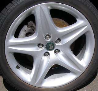 08-09 JAGUAR XJ 19x8.5 Tapered Groovd Angular 5 Spoke A SILVER CUSTOM