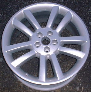 04-07 JAGUAR XJR 19x8.5 Angular Double 5 Spoke SILVER PERFORMANCE