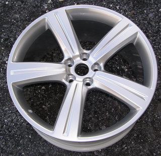 08-09 JAGUAR XJ 20x9 Thin Grooved Flared 5 Spoke BRILLIANT CREMONA