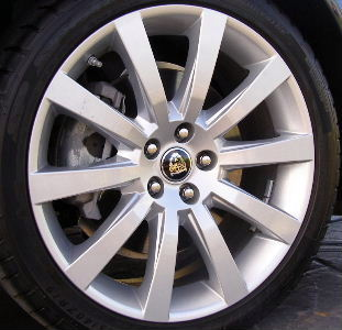 08-09 JAGUAR XJ8 VANDEN PLAS 19x8.5 Thin Flat Angular 10 Spoke BRILLIANT - CALISTO