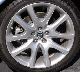 08-09 JAGUAR XJ8 19x8.5 10 V-Spoke SILVER SPARKLE POLARIS