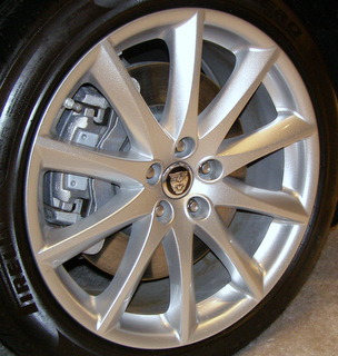 10-18 JAGUAR XJ 19x9 Twisted Contoured 10 Spoke SILVER ALEUTIAN FRONT