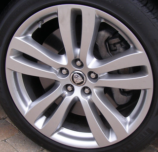 10-18 JAGUAR XJL 19x9 Flat Flared Double 5 Spoke A BRILLNT TOBIA FRONT