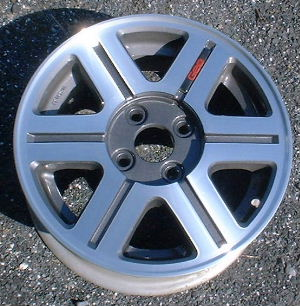 90-93 GEO STORM 14x5.5 Flat 6 Spoke w Thin Groove A MC/CHARCOAL