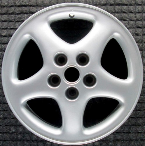 93-97 OLDSMOBILE CUTLASS SUPREME 16x6.5 Soft 5 Spoke w Exposed Lugs SILVER