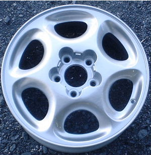 98-00 OLDSMOBILE INTRIGUE GX 16x6.5 Soft Tapered 6 Spoke SILVER