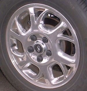 04-05 BUICK CENTURY 16x6.5 Slanted Forked 6 Spoke CHROME, OPTN PY1