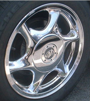 02 OLDSMOBILE INTRIGUE 17x7.5 Twisted Flat Soft 6 Spoke CHROME, OPTN N94