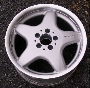 99-03 MERCEDES CLK320/CLK430 17x8.5 AMG 5 Spoke Rear 1704010202 208 CH -SILVR/MACHD LIP