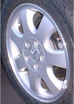 01-03 MERCEDES CLK320 16x7 Flat 7 Spoke 2084010702 208 CH - SILVER, MC'D LIP