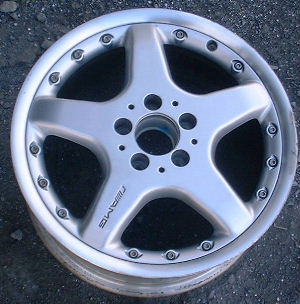02-03 MERCEDES CLK320/CLK430 17x7.5 AMG 2Pc Thin 5 Spoke Front 208 CH - SILVR, POL LIP