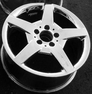 05-07 MERCEDES CLK500/CLK550 17x7.5 AMG Front Webbed 5 Spoke 209 CH - CHROME