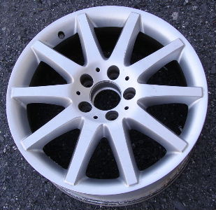 07 MERCEDES CLK350 17x7.5 Front Thin 10 Spoke w Open Lugs 209 CH - SILVER