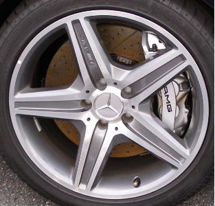 07-08 MERCEDES CLK63 AMG 18x8 Mc/Grey Thin 5 Spoke w Raised Edges 209 CHASSIS - FRONT
