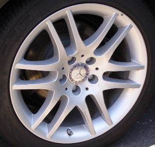08-09 MERCEDES CLK350 17x8.5 Flat Thin Double 6 Spoke 209 CH - SILVER REAR