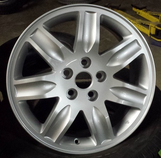 06 MITSUBISHI GALANT 17x7 Grooved Contoured 7 Spoke SILVER, OPTN KS
