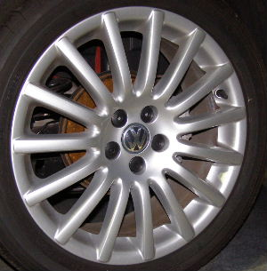 04-05 VOLKSWAGEN GOLF GTI 17x5.5 Thin 15 Spoke 1J0601025BB8Z8 OZ DESIGN, SILVER