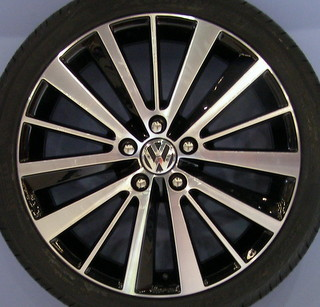 12-17 VOLKSWAGEN GOLF 18x7.5 Flat Alternating 15 Spoke DLR ACCY, MC/BLACK PRESTON