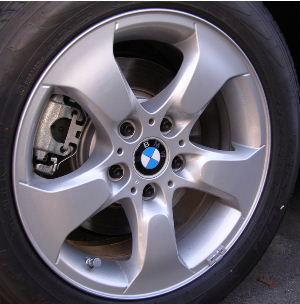 04-10 BMW X3 3.0 SI 17x8 Flared Raised Contourd 5 Spoke SILVER - STYLE 204